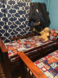 Twin beds that can be converted to bunk beds