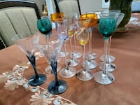 clear glass footed wine glasses Brampton, L6S
