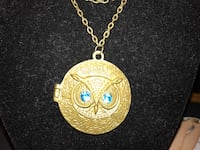 Round gold owl pendant chain necklace Gainesville, 20155