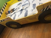 Tonka toddler truck bed with built in book shelf and bed linens Washington, 20011