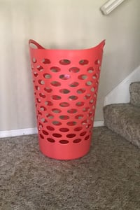 Coral laundry basket