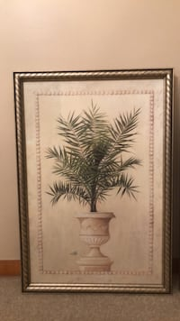 brown wooden framed painting of palm tree Highland, 46322