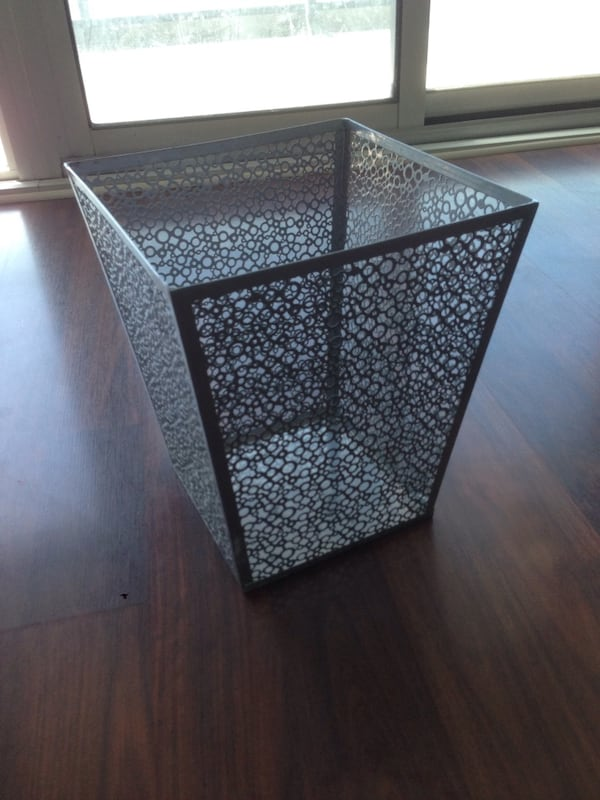 Stainless steel waste basket 0