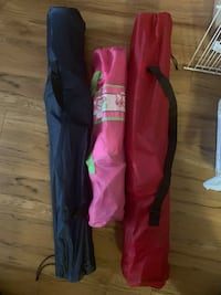women's black and pink pants