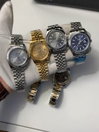 READ ADs!!!! Six round silver analog watches Rolex date-just 41mm Toronto, M6N