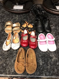 Toddler shoes! Gentle use and some never worn. Boots size 4 others size 5. Selling whole bundle. Pick up only.