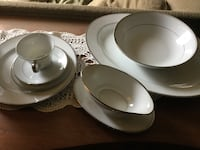 """""""Sincerity"""" by Dalton 12 place settings of China Plum, 15239"""