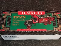 Collectible Texaco locking coin bank with key die cast metal Virginia Beach, 23455