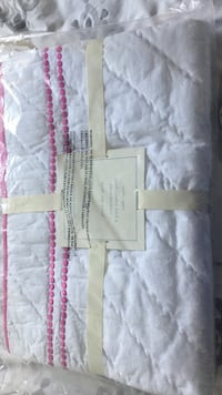 White and pink pottery barn baby bed quilt Linthicum Heights, 21090