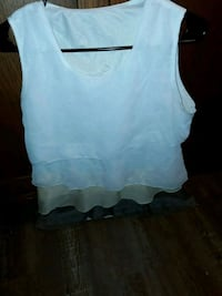 women's white sleeveless top Gold Hill, 97525