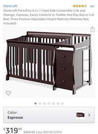 Crib with changing table  Springfield, 22153
