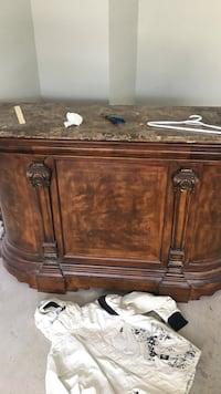 NEED GONE ASAP oak bar with marble top Nanaimo, V9T