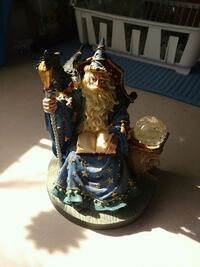Wizard in Blue statue ceramic figurine London, N6J