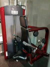 black and red stationary bike 211 mi
