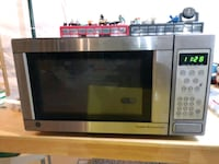 Stainless Steel And Black microwave oven Lisle