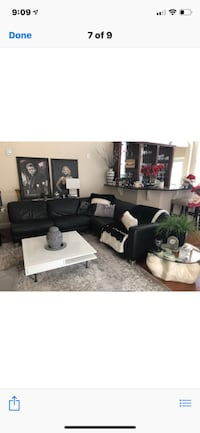black leather sofa set with coffee table Odessa, 33556