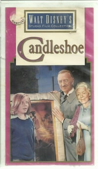 vhs Candleshoe - Walt Disney's Studio Film Collection -   Genre: Comedy Leading Role: Leo Mckern, Helen Hayes, David Niven, Jodie Foster Director: Norman Tokar Rating: G Signal Standard: NTSC  previous rental  - original box cut and remounted on a clamshe Newmarket