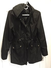 Marjorie beautiful light jacket with hoodie from Costco . Good quality. Looks new. Excellent condition . Toronto, M8W 4W3
