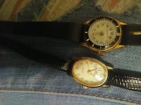 two round gold analog watches with black leather straps Tonopah, 89049