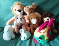8 PELUCHES DE ANIMALES Madrid