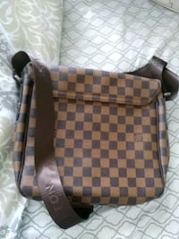 brown and black Louis Vuitton leather sling bag West Valley City, 84128
