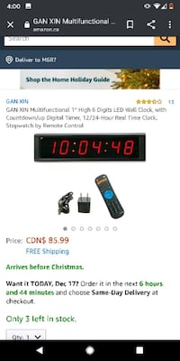 Wall clock with countdown led  Toronto, M8Y 1V8