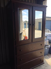 brown wooden cabinet with mirror Fontana