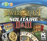 PC CD-ROM * Jewel Quest Solitaire II & III * All on One Disk Hamilton