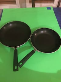 TWO- Tramontina Porcelain Enamel Skillets; 10inch and 12inch.  Kennewick, 99336
