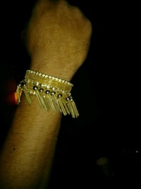 gold tone fringed cuff bracelet Wichita