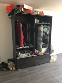 Big wooden cabinet -125$ negotiable Montreal, H3H 1L2