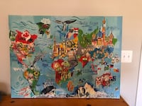 Children's wrapped canvas map of the world Alexandria, 22306