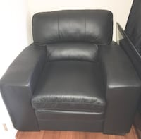 Black Bonded Leather Accent Chair Waldorf
