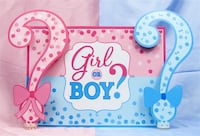 Baby Reveal Backdrop Boy Or Girl 5x7ft Question Mark Background NEW