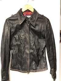 Gianfranco Ferre ladies black leather jacket