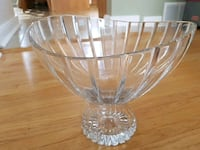 Crystal bowl,approx.25cm tall