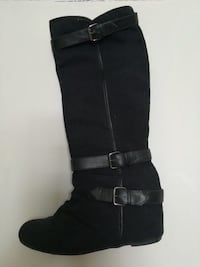 Black boots with wedge size 38 New Tecumseth, L9R 1E3