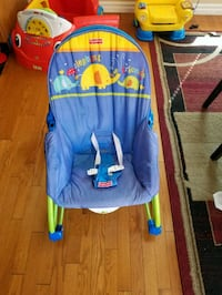 baby's blue and yellow bouncer Calgary, T3L 3C5