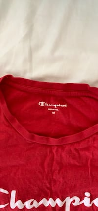 Red and white champion crew neck shirt Brentwood, 94513