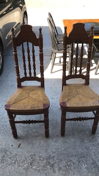 two brown wooden windsor chairs Sarasota, 34232