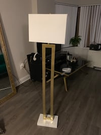 Gold and Marble Floor Lamp