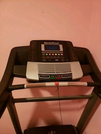 black and gray Pro-Form treadmill