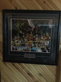 Hulk Hogan signed photo frame  Welland, L3C
