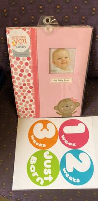 White and pink floral baby book 69 km