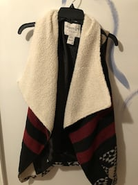 red, white, and black stripe vest Rome, 30165