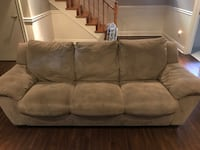 Brown suede sofa and reclining armchair Toronto, M3J 1G1