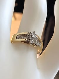 10k Diamond Gold Ring