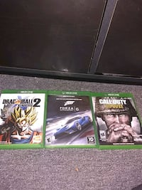 two Xbox One game cases Greenville, 29605