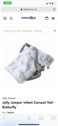 Jolly Jumper Car Seat Veil Mississauga, L4X 1C9