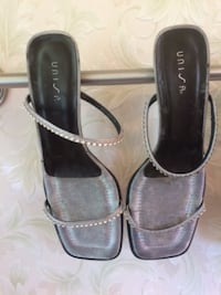 Pair ladies evening shoes silver VALDOSTA
